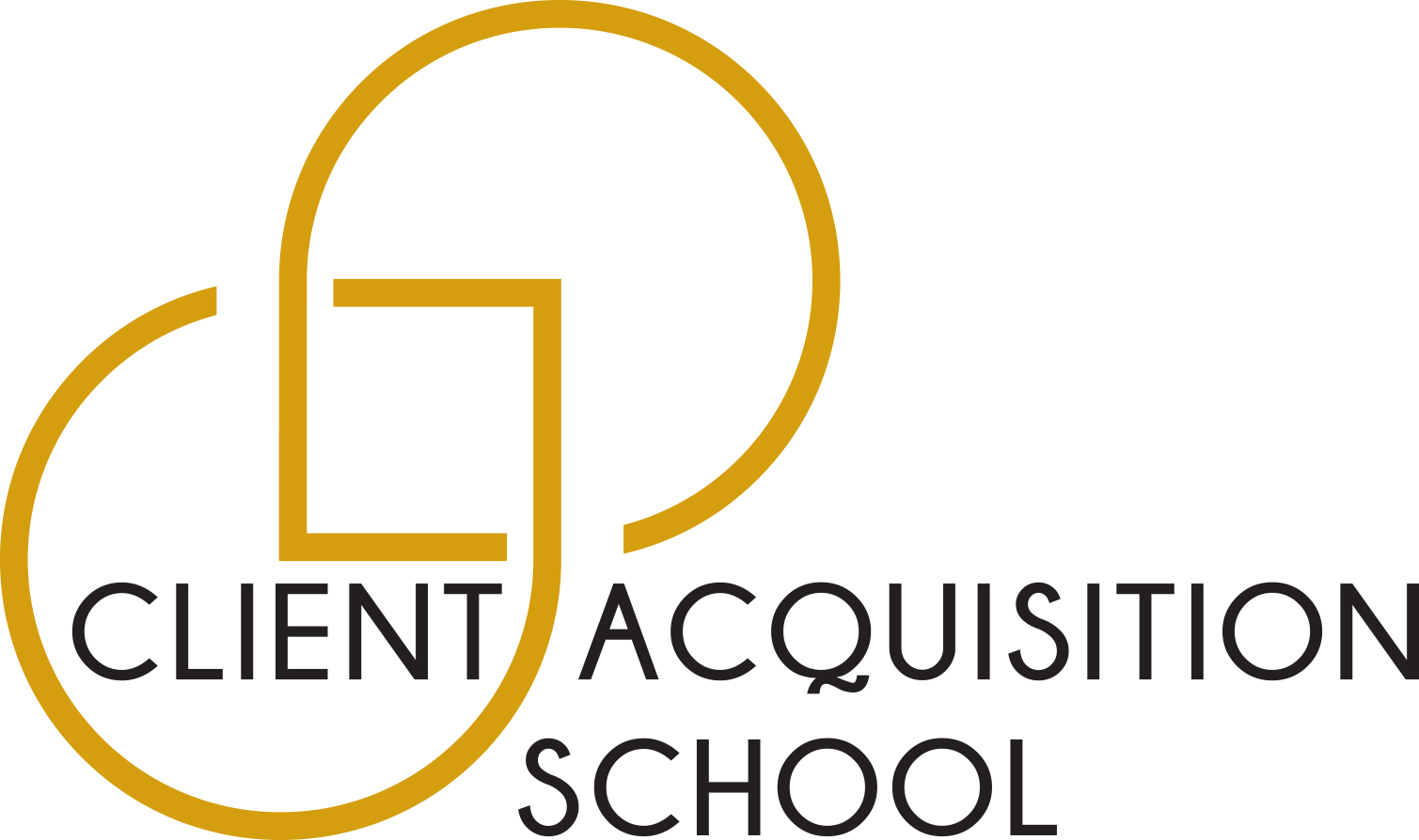Client Acquisition School-Alternative Logo-Stacked